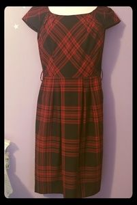 Tahari retro plaid dress